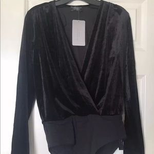 BNWT ZARA CRUSHED VELVET BODYSUIT ONE PIECE